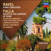 Ravel: Piano Concertos; Falla: Nights in the Gardens of Spain / Alicia de Larrocha, piano
