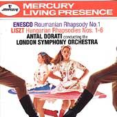 Enesco: Roumanian Rhapsody no 1;  Liszt: Rhapsodies / Dorati