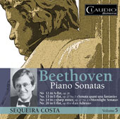 Beethoven: Piano Sonatas Nos. 12, 13, 14, & 26, Vol. 5 / Sequeira Costa, piano