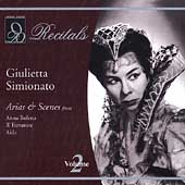 Recitals - Giulietta Simionato Vol 2 - Arias & Scenes