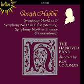 Haydn: Symphonies no 42-44 / Roy Goodman, Hanover Band
