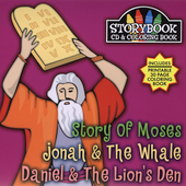 Various Artists: Storybook CD & Coloring Book: Story of Moses/Johnah and the Whale/Daniel and the...