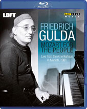 Mozart for the People - Piano Sonatas nos 4, 9, 12 & 14; Fantasia K.475; Aria 'In Diesen heil'gen Hallen' (arr. Gulda) (live from the Amerikahaus, Munich, 1981) / Friedrich Gulda, piano [Blu-ray]