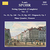 Spohr: String Quartets Complete, Vol 12 / Dima Quartet