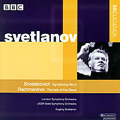 Shostakovich: Symphony no 5;  Rachmaninov / Svetlanov