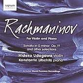 Rachmaninov for Violin and Piano / Hideko Udagawa, et al