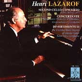 Lazarof: Cello Concerto no 2, etc / Solow, Samuel, Stern