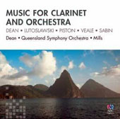 Music for Clarinet and Orchestra: Dean, Lutoslawski, Piston, Veale, Sabin