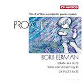 Prokofiev: Complete Piano Music Vol 3 / Boris Berman