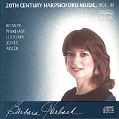 20th Century Harpsichord Music Vol 3 / Barbara Harbach