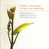 Bach: Flute Sonatas / Davies, Cole, McGillivray