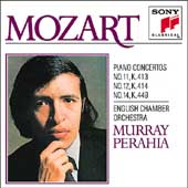 Mozart: Piano Concertos nos 11, 12 / Perahia, English CO