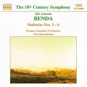 Benda: Sinfonias nos 1-6 / Christian Benda, Prague CO