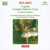 Delibes: Copp&eacute;lia, La Source / Mogrelia, Slovak RSO