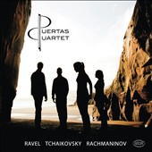 Ravel: String Quartet in F major; Tchaikovsky: String Quartet No. 1; Rachmaninov: Romance No. 1 for string quartet / Puertas Quartet