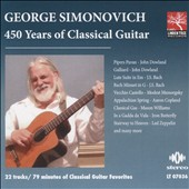 450 Years of Classical Guitar / George Simonovich, guitar