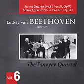 Beethoven: String Quartets Vol 6 / Taneyev Quartet