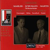 Mahler, Schumann, Martin: Orchesterlieder / Fischer-Dieskau