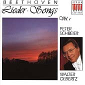 Beethoven: Lieder Vol 1 / Peter Schreier, Walter Olbertz
