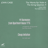 John Cage Edition Vol 32 - Works for Violin 6, etc / Arditti