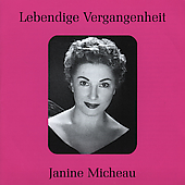 Lebendige Vergangenheit - Janine Micheau