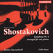 Shostakovich: Symphony no 4 / Hayroudinoff, Stone
