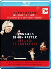 The Highest Level - Prokofiev: Piano Concerto No. 3; Bartok: Piano Concerto No. 2 / Lang Lang, piano; Simon Rattle [Blu-Ray]