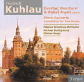 Kuhlau: Everhoj Overture & Ballet Music, etc / M&#225;ga, Ponti