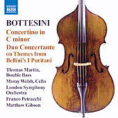 Bottesini: Concertino in C minor, Elégie in D major, Ali Babà Overture, etc / Gibson, Petracchi, Martin, Welsh, London SO