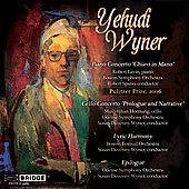 Wyner: Piano Concerto, Cello Concerti, Lyric Harmony, Epilogue / Davenny Wyner, et al