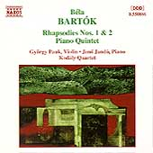 Bart&oacute;k: Rhapsodies 1 & 2, Piano Quintet / Pauk, Jand&oacute;, etc