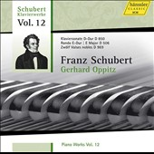 Franz Schubert: 'Piano Works, Vol. 12' - Piano Sonata in D Major, D. 850; Rondo in E Major, D. 506; 12 Noble Waltzes, D. 969 / Gerhard Oppitz, piano
