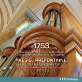 1753 - Organ Works by Nicolas Lebegue, Guillaume Gabriel Nivers, Louis Marchand & Jean Henry DÆAnglebert / Yves-G. Préfontaine, organ