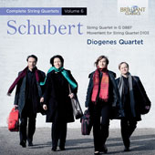 Schubert:String Quartet in G; Movement for String Quartet in C minor;