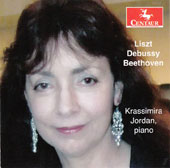 Liszt: Spanish Rhapsody; Variations on a motive; Debussy: Ondine; Reverie; General Lavine; Beethoven: 32 Variations in C minor / Krassimira Jordan, piano