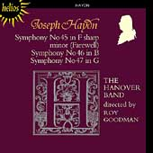 Haydn: Symphonies no 45-47 / Roy Goodman, Hanover Band