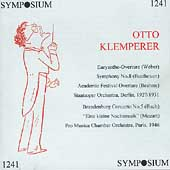 Otto Klemperer Conducts Weber, Beethoven, Brahms, Mozart