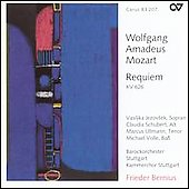 Mozart: Requiem K 626 / Bernius, Jezovsek, Schubert, et al