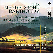 Mendelssohn: Symphony no 1 & 5, etc / Gollej, Fauth, et al