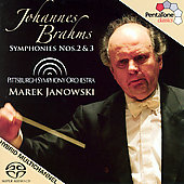 Brahms: Symphony no 2 & 3 / Janowski, Pittsburgh Symphony