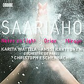 Saariaho: Notes on Light, Orion, Mirage / Mattila, Karttunen, Eschenbach, Orchestre de Paris