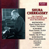 The Complete UK World Record Club Solo Recordings / Shura Cherkassky, piano