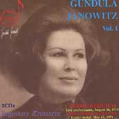Legendary Treasures - Gundula Janowitz Vol. 1 - Verdi, et al