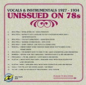 Various Artists: Unissued on 78s: Vocals & Instrumentals 1927-1934
