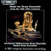 Music for Brass Ensemble from 16th-18th Centuries