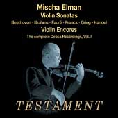 Mischa Elman - Complete Decca Recordings Vol 2