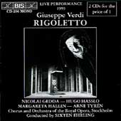Verdi: Rigoletto / Ehrling, Gedda, Hallin, Hasslo, et al