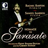 Homage to Sarasate / Rachel Barton, Samuel Sanders