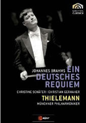 Brahms: Ein Deutsches Requiem / Thielemann/Munich PO, Schafer, Gerhaher [DVD]