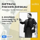 Schumann: Kerner-Lieder / Hertha Klust, Gunther Weibenborn